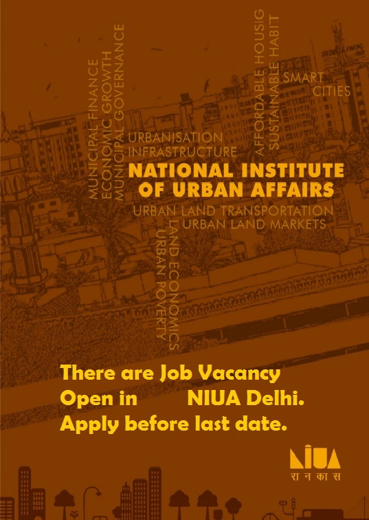 Job Vacancy in  NIUA Delhi