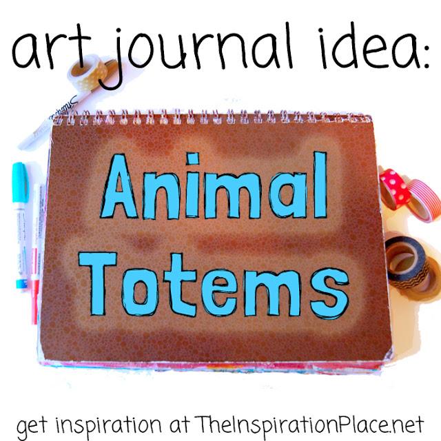 art journal inspiration found at http://schulmanart.blogspot.com/2015/07/art-journal-idea-animal-totems.html