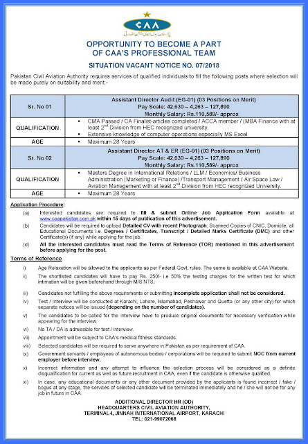 Jobs in Civil Aviation Authority Jobs 2018