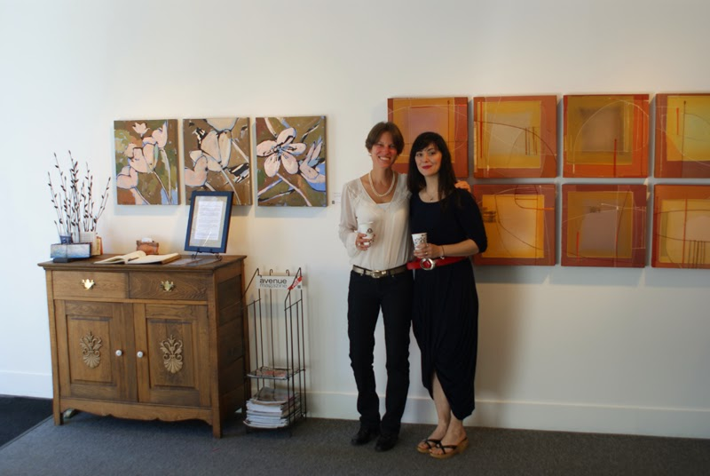 verna vogel & amy at the front gallery 2014