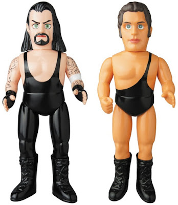 WWE The Undertaker & Andre the Giant Sofubi Vinyl Figures by Medicom