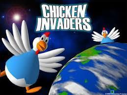 لعبة الفراخ الرائعه اون لاين بدون تحميل Chicken Invaders online
