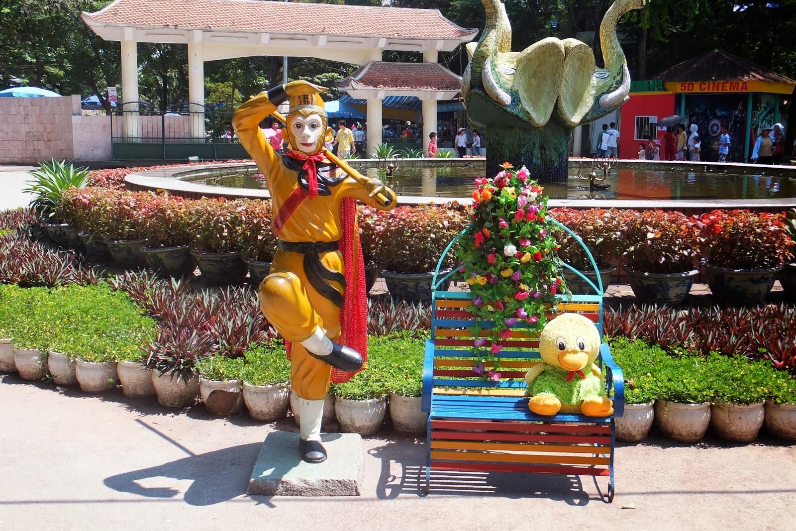 hanoi-zoo ハノイ動物園の孫悟空