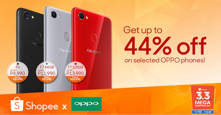 OPPO Joins Shopee's 3.3 Mega Shopping Sale