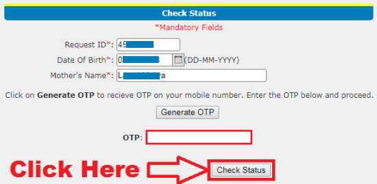 how to check bharat gas connection status online