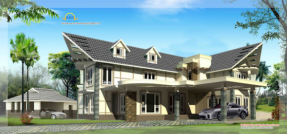 Luxury House Elevation - 302 Sq M (3255 Sq. Ft.)
