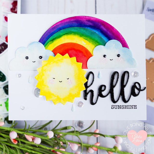 Spellbinders - Indie Collection Blog Hop Hello Sunshine - Happy Weather Card by ilovedoingallthingscrafty