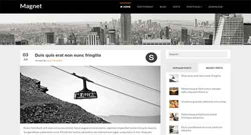 Magnet Blogger Template