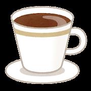 コーヒー・コーヒーカップのイラスト(カフェ)