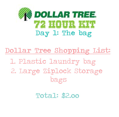 Prepping With Natsprat Dollar Tree 72 Hour Kit Party Part 1