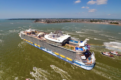 Royal Caribbean's Harmony of the Seas Departs Saint Nazaire, France for Southampton, England