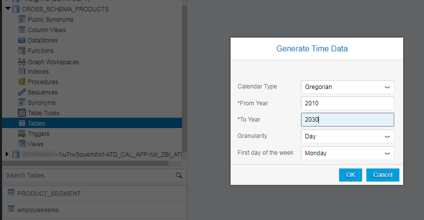 Create Time-Related Tables and Generate Time Data in SAP HANA XSA