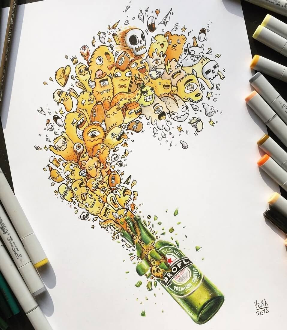 10-Beer-Vince-Okerman-aka-Vexx-11-Doodle-Drawings-and-1-Painting-www-designstack-co