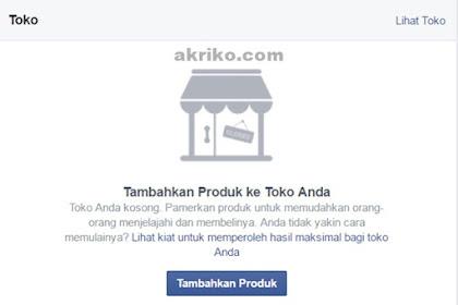 Halaman Facebook Kini Ada Fitur Toko Online