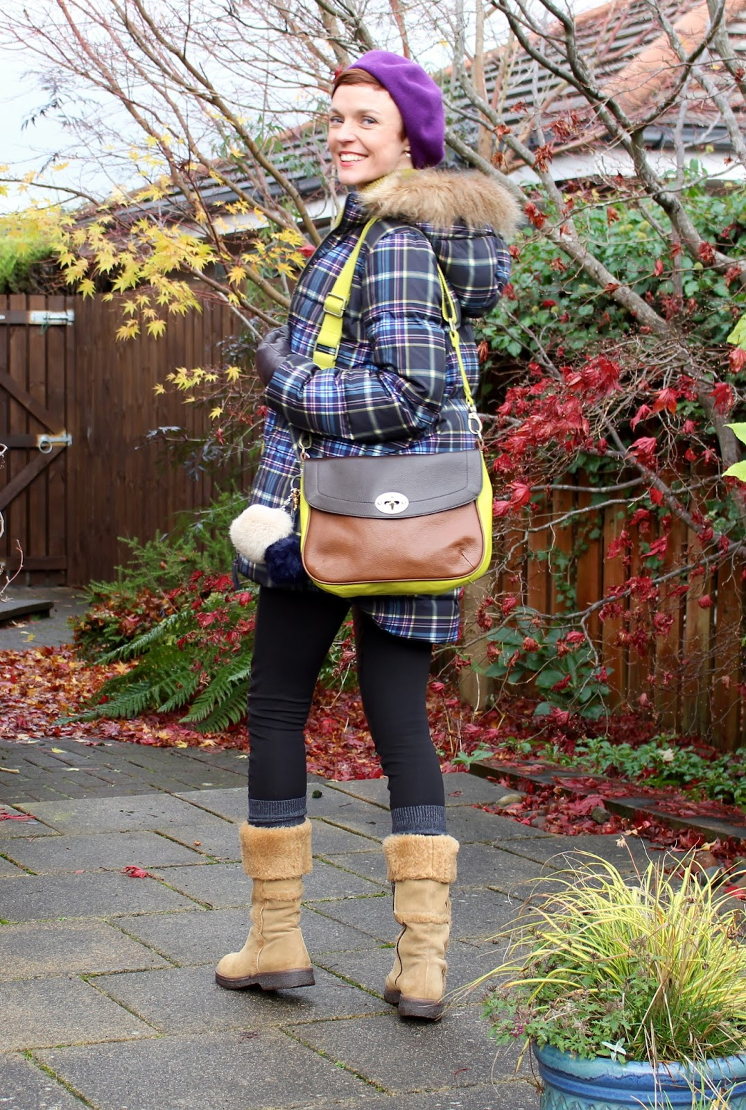 Styling a puffer jacket and sheepskin boots | Fake Fabulous