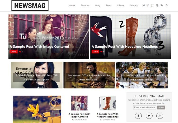 Newsmag Blogger Template