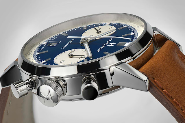 Hamilton American Classic Intra-Matic Auto Chrono 40 mm with blue dial (ref. H38416541)