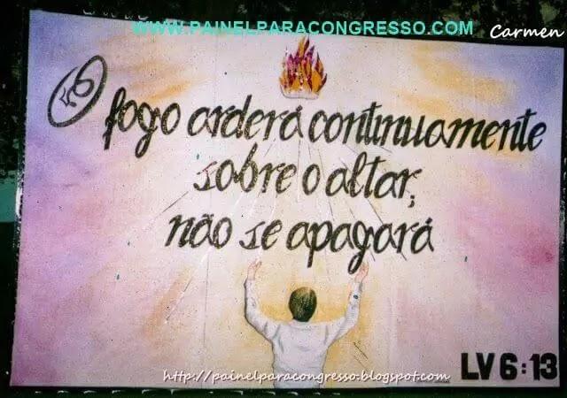 Congresso de varões   Levítico 6:13