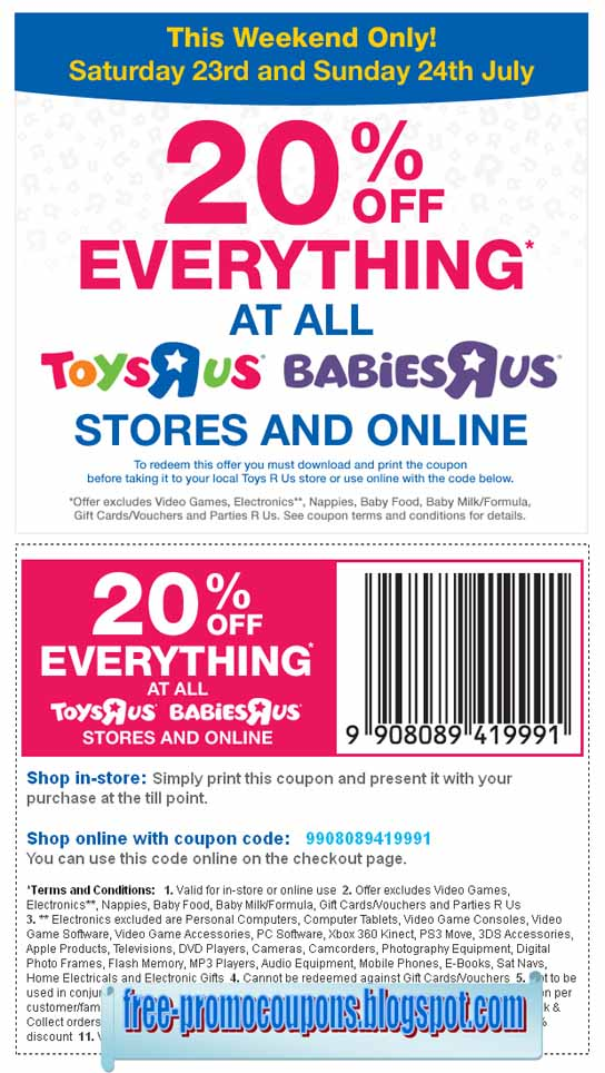 image regarding Baby R Us Printable Coupon named Printable Discount coupons 2019: Infants R Us Coupon codes