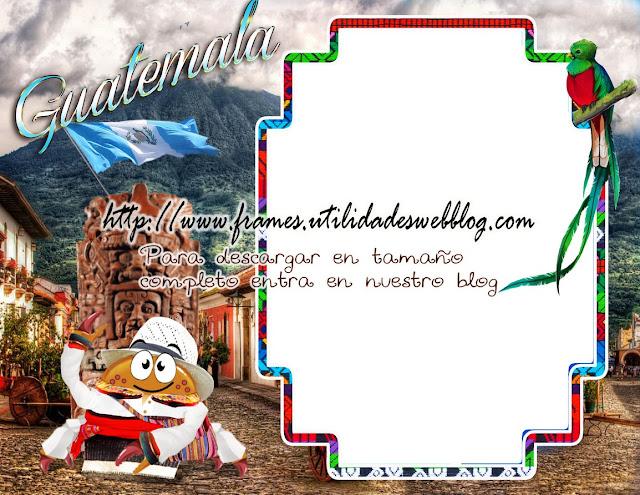 marco para fotos de Guatemala con  elementos tradicionales