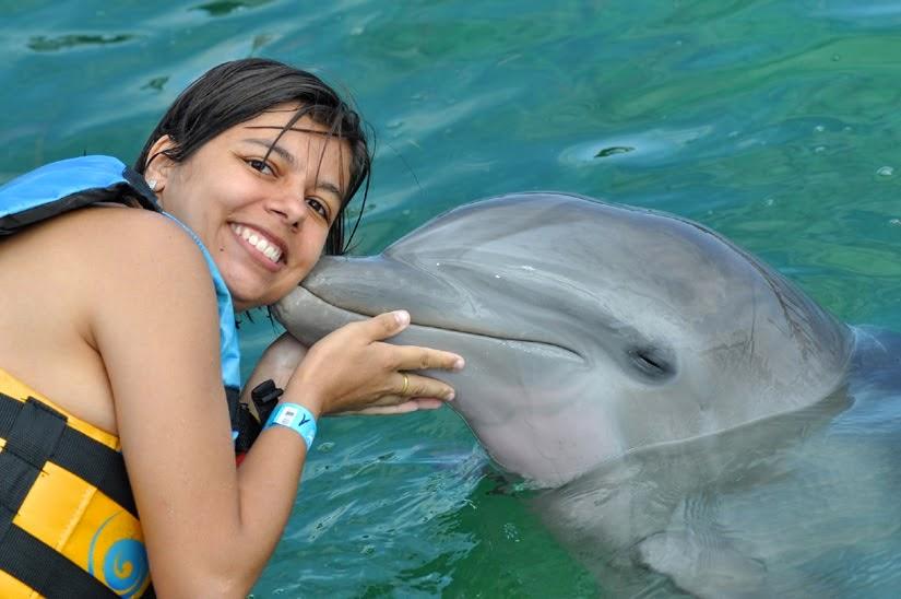 Nado com golfinho - Roteiro: 12 dias em Cancun (México)