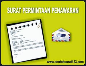 Gambar Contoh Surat Permintaan Penawaran Barang/Produk