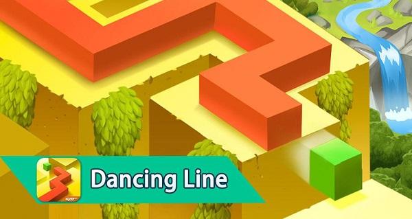 لعبة dancing line apk mod مهكرة آخر إصدار