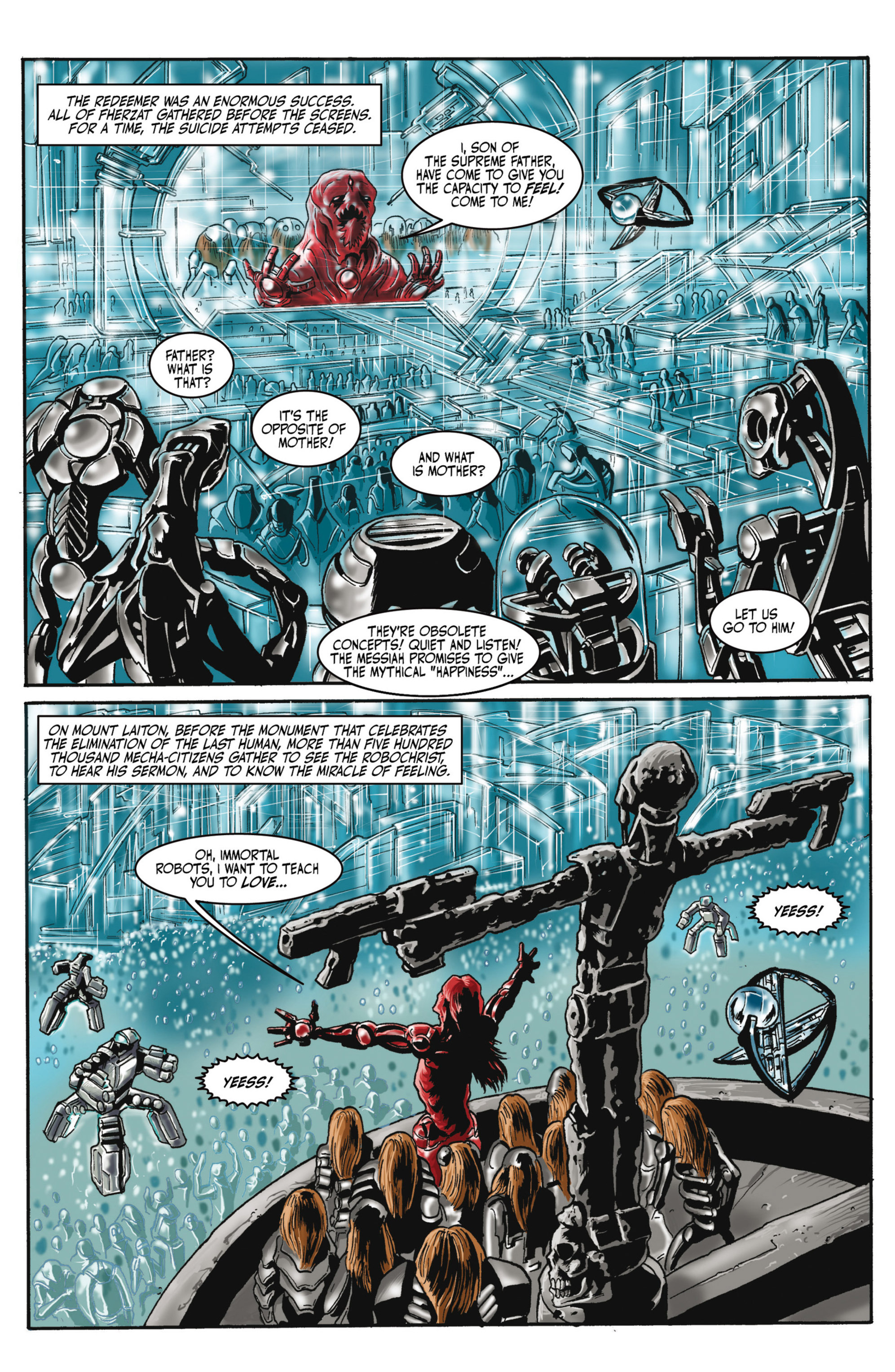 Read online Alejandro Jodorowsky's Screaming Planet comic -  Issue #2 - 13