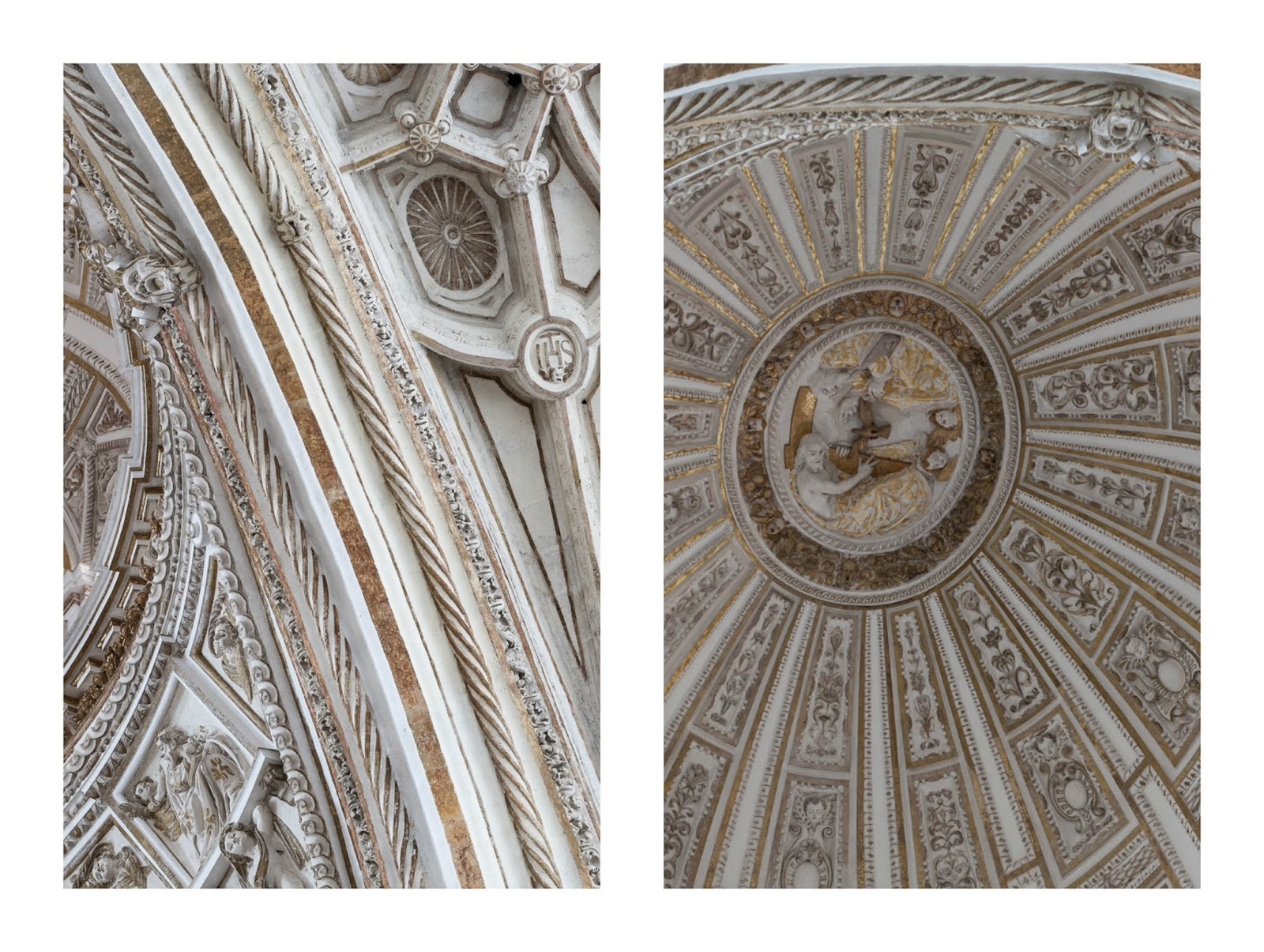 ceiling in la mezquita Cordoba