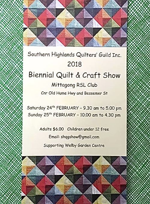 Fairholme Quilters: 2018 events : quilts inc shows - Adamdwight.com