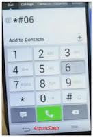 IMEI number - *#06#
