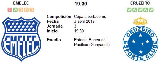 Emelec vs Cruzeiro en VIVO