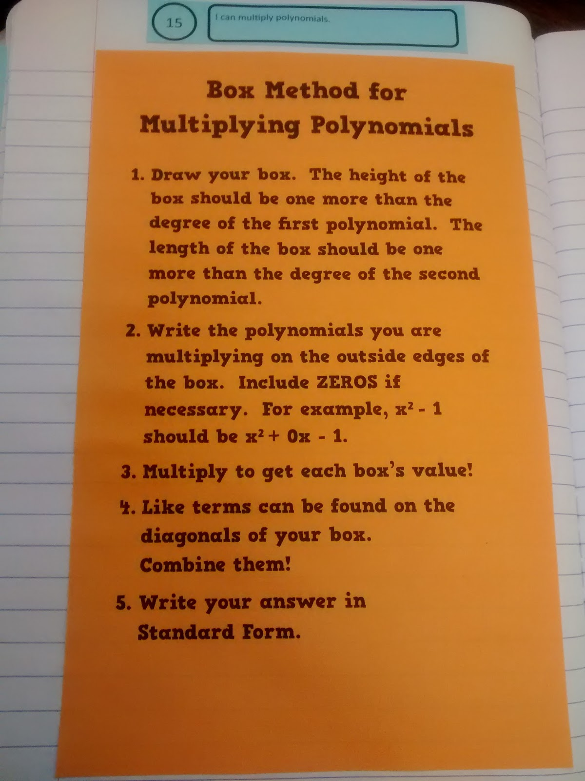 Multiplying Polynomials Coloring Worksheet Answers