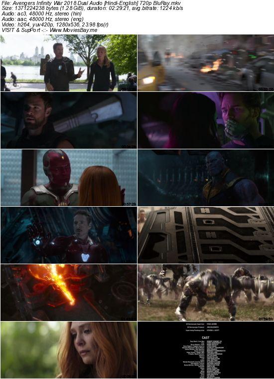 Avengers Infinity War 2018 Dual Audio [Hindi-English] 720p BluRay worldfree4u