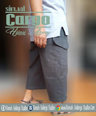 Sirwal Cargo Hijau Army