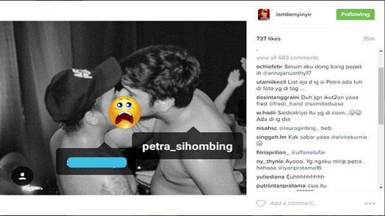 Foto Hot Mirip Petra Sihombing Berciuman Dengan Pria