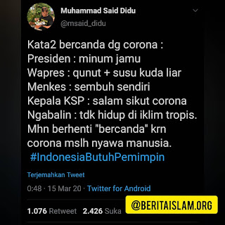Penyakit Tha'un di Zaman Umar bin Khattab