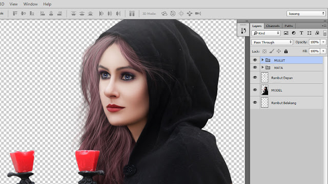 24 Design cover buku Novel dengan Photoshop CC