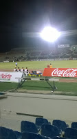 Yo en el estadio Cimarrones vs Zacatepec