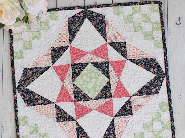 Nancy Mini Quilt Pattern + Your Free August 2018 Calendar