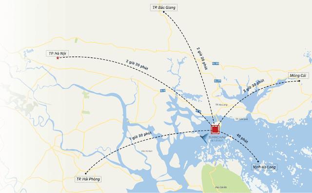 Vị trí dự án Tuần Châu Marina Hạ Long