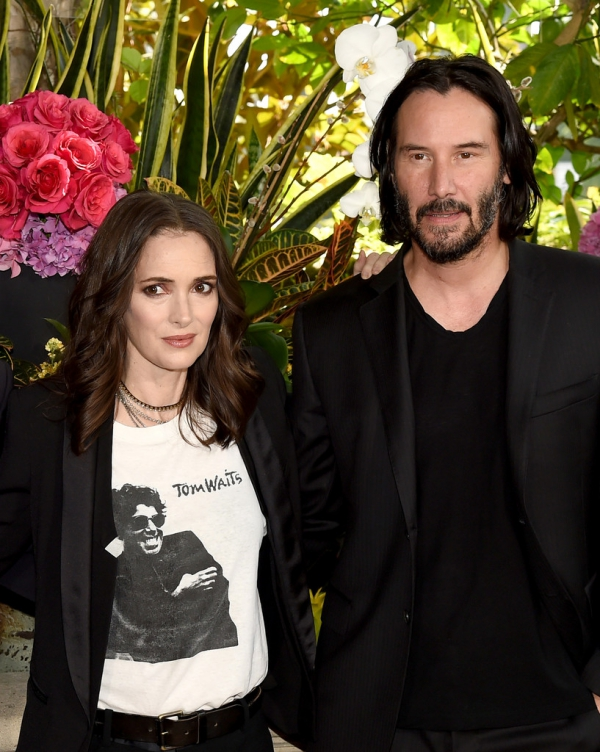 Winona Ryder reveló que está casada con Keanu Reeves