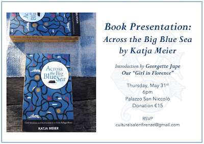 Across the Big Blue Sea book presentation flyer