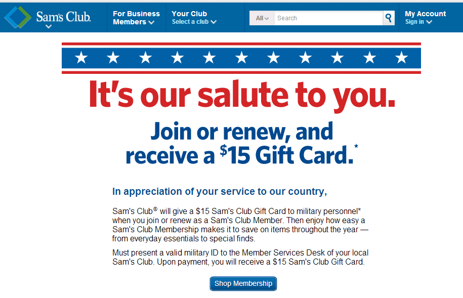 Sams Club Promotion >> Discounts Deals 4 Military Sam S Club Military Discount