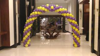 dekorasi balon gate pintu masuk