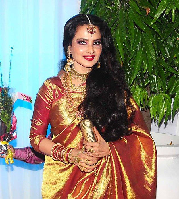 Rekha Jewelry At Esha Deol Wedding Reception Jewellery