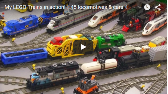 My Lego Trains In Action 45 Locomotives Cars Stylish Videos
