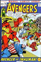 Avengers v1 #95 marvel comic book cover art