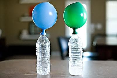 balon mengembang karena cuka dan soda kue
