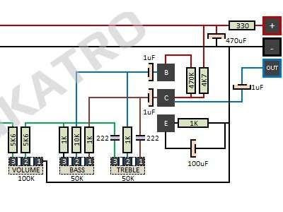 Merangkai Tone Controll 2 Transistor